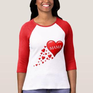 Red Mom Hearts Tshirt