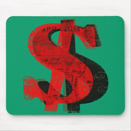 Red Money Mouse Pads