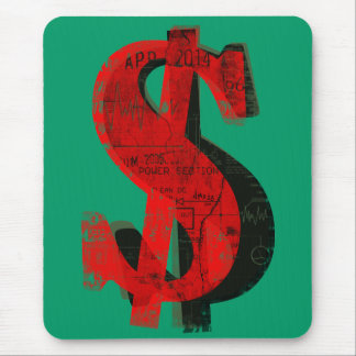 Red Money Mouse Pad
