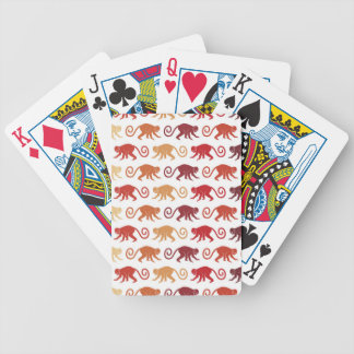 Red Monkeys Pattern Bicycle Playing Cards