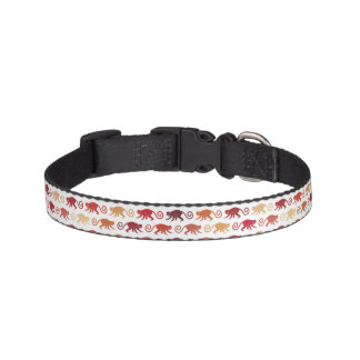 Red Monkeys Pattern Pet Collar