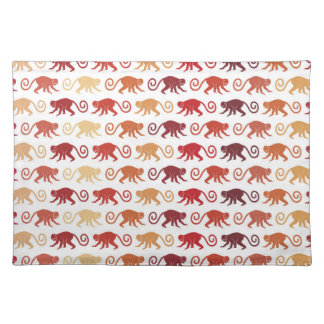 Red Monkeys Pattern Placemat