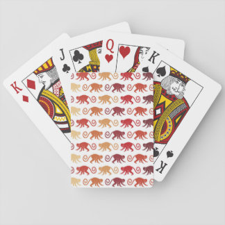 Red Monkeys Pattern Playing Cards