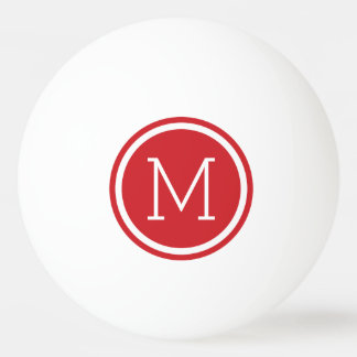 Red Monogram Personalized Ping Pong Balls