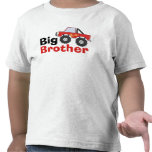 Red Monster Truck Big Brother T Shirt