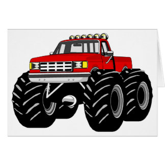 RED MONSTER TRUCK CARD