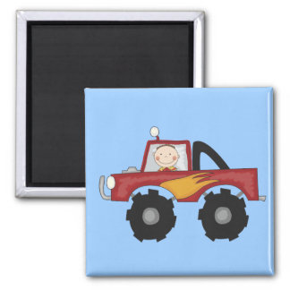 Red Monster Truck Tshirts and Gifts Magnet