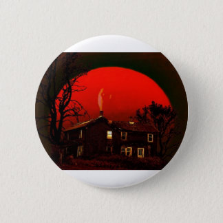 red moon 6 cm round badge
