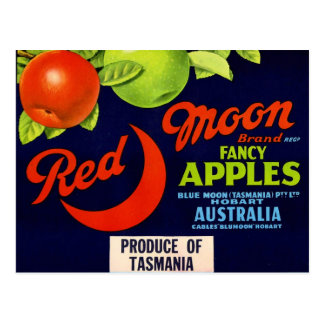 Red Moon Apples Postcard