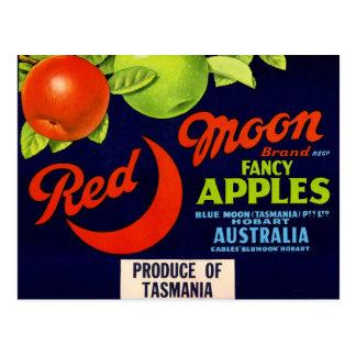 Red Moon Apples Postcard