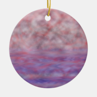 Red moon blue water onament round ceramic decoration