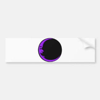 Red Moon Purple Moon Green Moon White Laughing Man Bumper Sticker