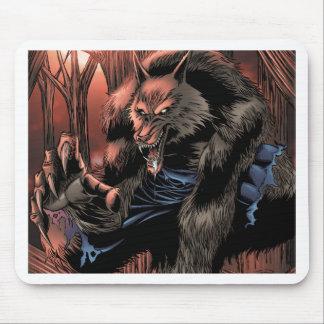 Red Moon Werewolf Mouse Mat