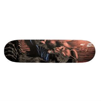 Red Moon Werewolf skateboard