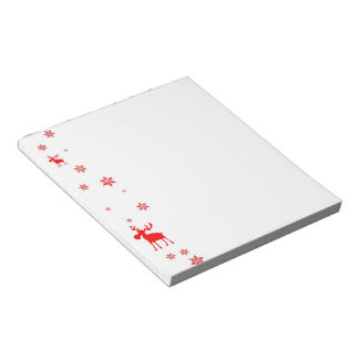 Red Moose and Red Snowflakes - Notepad