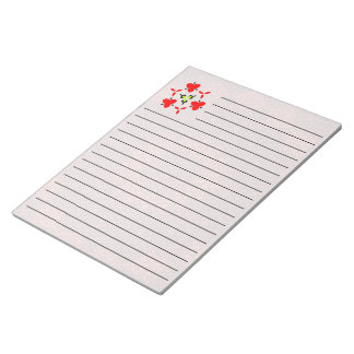Red mosaic pattern notepad