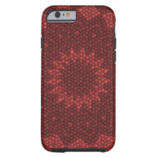 Red mosaic pattern tough iPhone 6 case
