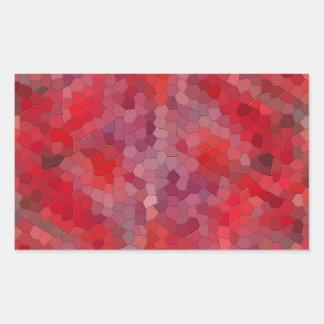 Red Mosaic Tiles Rectangular Sticker
