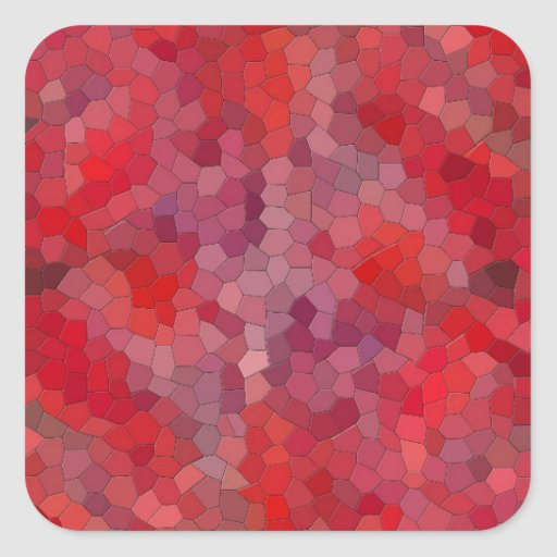 red mosaic tiles square stickers zazzle. Black Bedroom Furniture Sets. Home Design Ideas