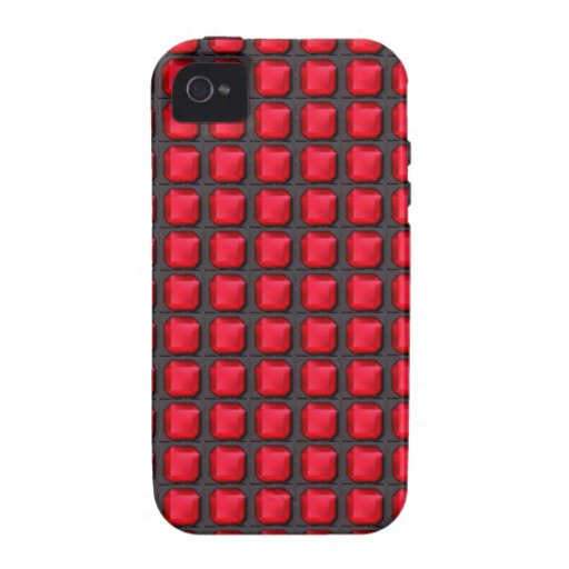 RED mosiac crystal stones pattern graphic event Vibe iPhone 4 Cover