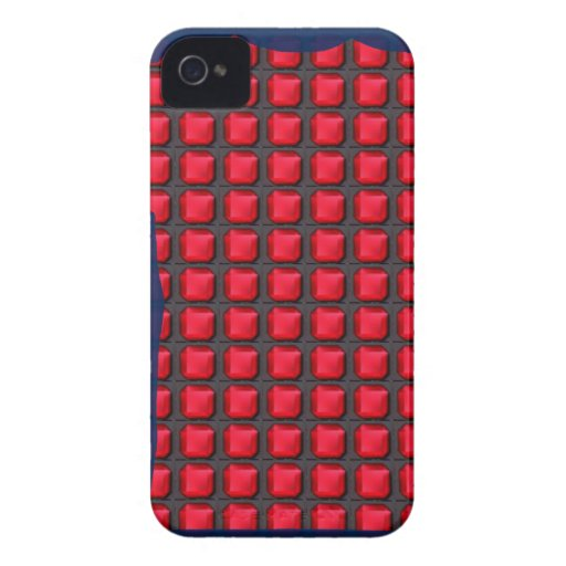 RED mosiac crystal stones pattern graphic event iPhone4 Case