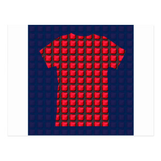 RED mosiac crystal stones pattern graphic event Postcard