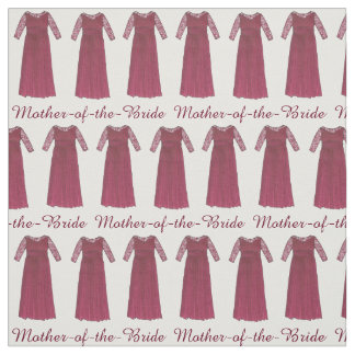 Red Mother of the Bride Dress Wedding Party Fabric