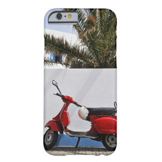 Red motor scooter by wall, Stromboli Island, Barely There iPhone 6 Case