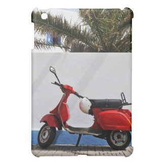 Red motor scooter by wall, Stromboli Island, iPad Mini Case