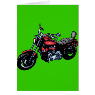 Red Motorcycle Card