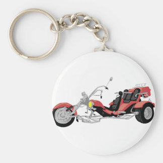 red motorcycle trike key ring