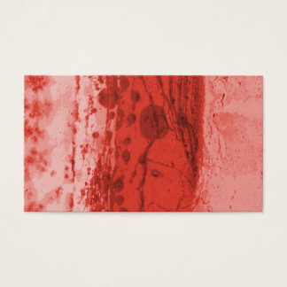 Red Mottled Wax Texture Background Business Card