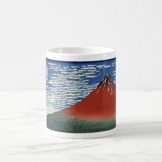 Red Mount Fuji Mugs