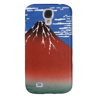 Red Mount Fuji Vintage Japanese Print Galaxy S4 Cases