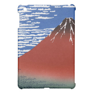 Red Mount Fuji Vintage Japanese Print iPad Mini Cover