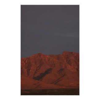 Red Mountain at Twilight Custom Stationery