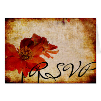 Red Mountain Flower Beautiful RSVP Card
