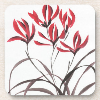 Red Mountain Flowers Coaster