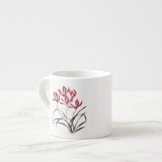 Red Mountain Flowers Espresso Cup