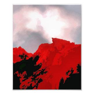 RED MOUNTAIN PHOTO PRINT