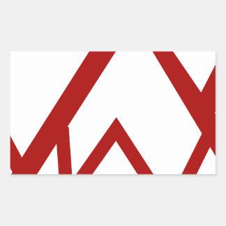 Red Mountain Range Peak Icon Rectangular Sticker