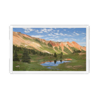 Red Mountain Reflection Acrylic Tray