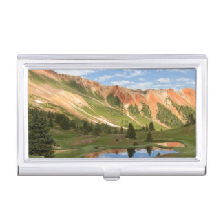 Red Mountain Reflection Business Card Holder
