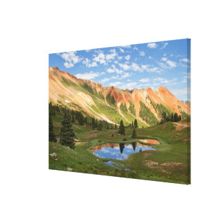 Red Mountain Reflection Canvas Print