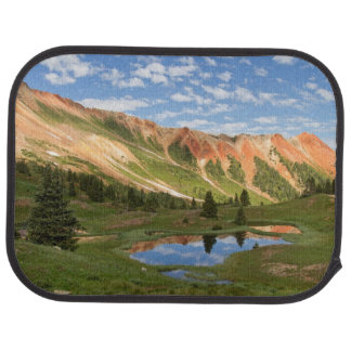 Red Mountain Reflection Car Mat
