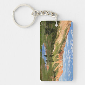 Red Mountain Reflection Key Ring
