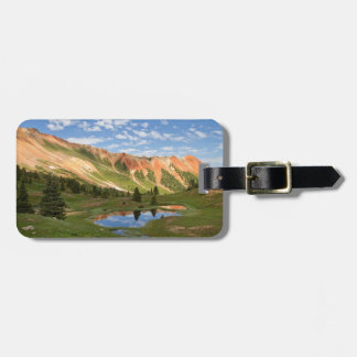 Red Mountain Reflection Luggage Tag
