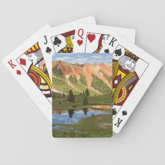 Red Mountain Reflection Poker Deck