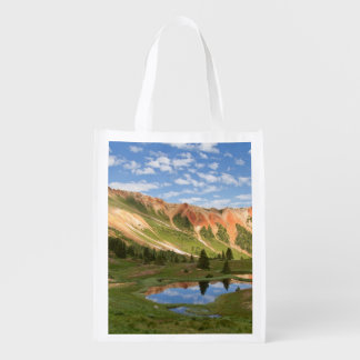 Red Mountain Reflection Reusable Grocery Bag