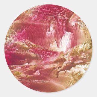 Red Mountain Round Sticker